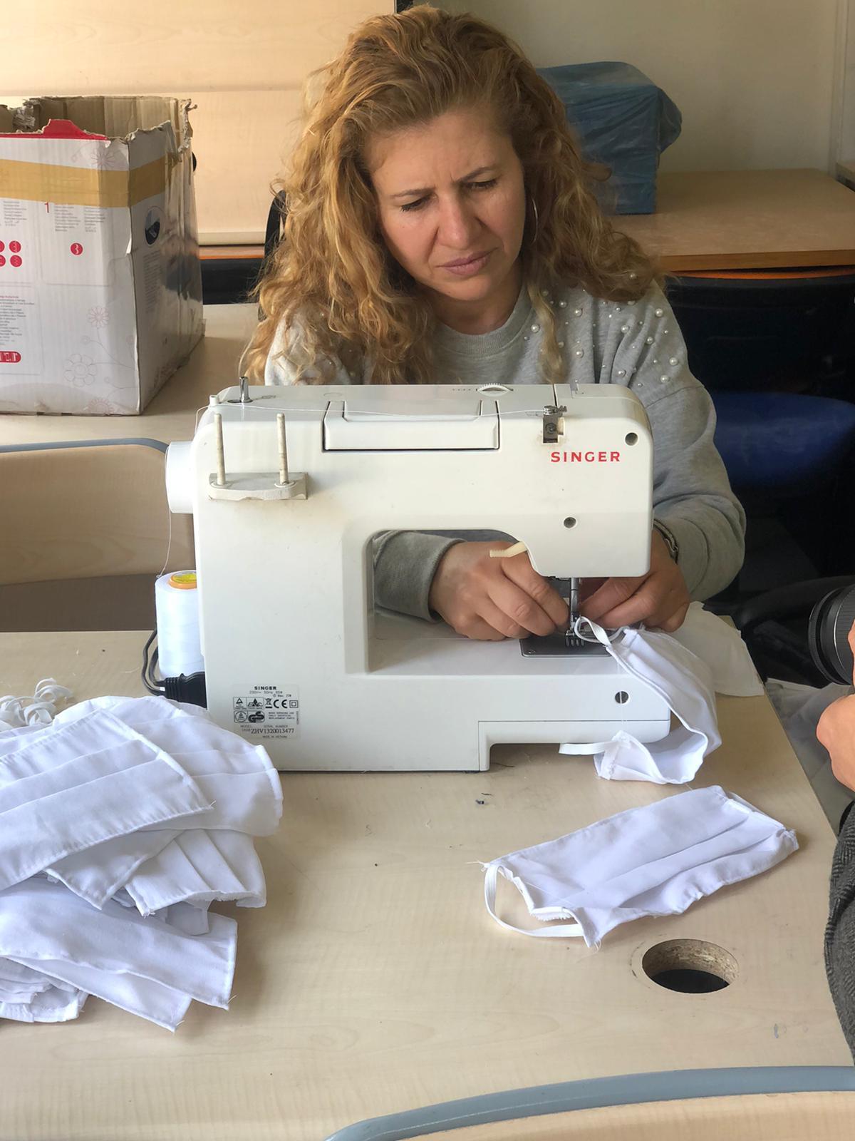 Karataş Belediyesi Maske üretimine başladı.
